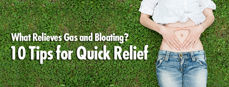 Whats relieves gas and bloating?