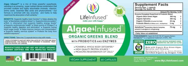 Algae Infused label